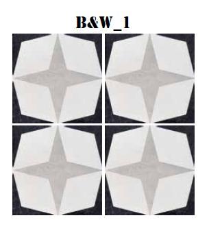 Cementine Black And White 1 Star 200 X 200 Tile Amp Stone