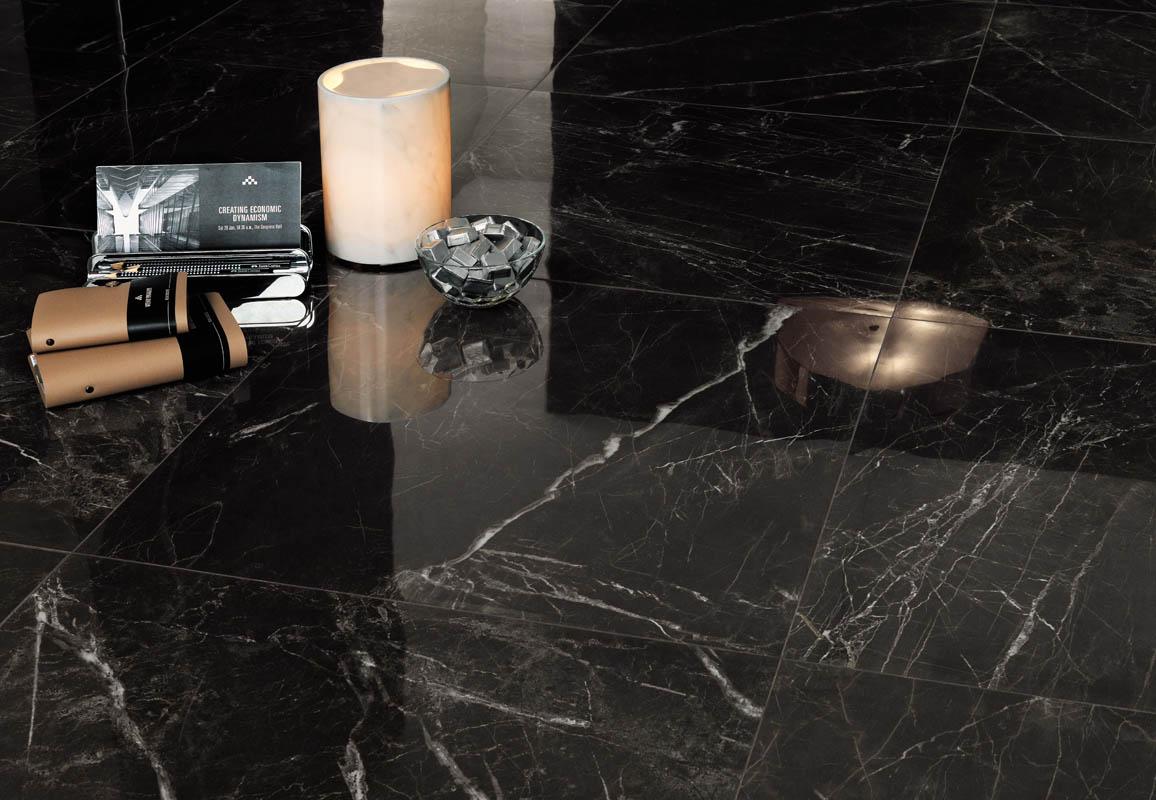 Marvel pro noir st laurent tile stone gallery for Carrelage 30x30