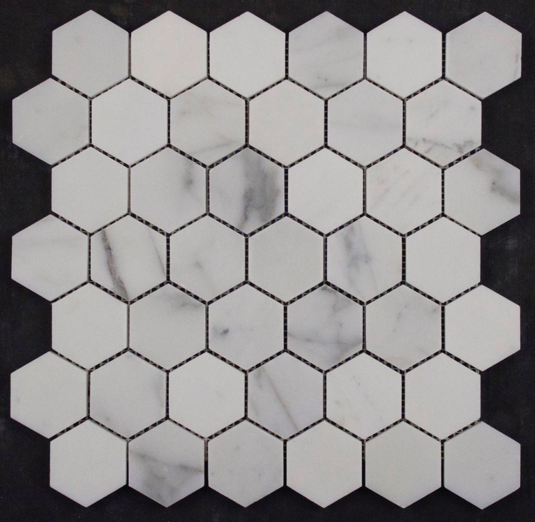 Calacatta Statuario Honed Hexagon – VM457 – Tile & Stone