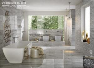 zebrino-gold-floor-wall