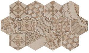 DTI Hex Clays Décor - Earth  Sand  Shell - 210 x 182