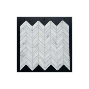 VULCANO VM 340-carrara-c-chevron-honed-marble-mosaic
