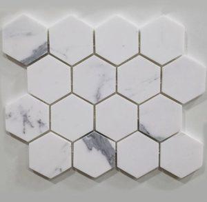 Vulcano VM 459-calacatta-statuario-hexagon-honed-marble-mosaic-70x70
