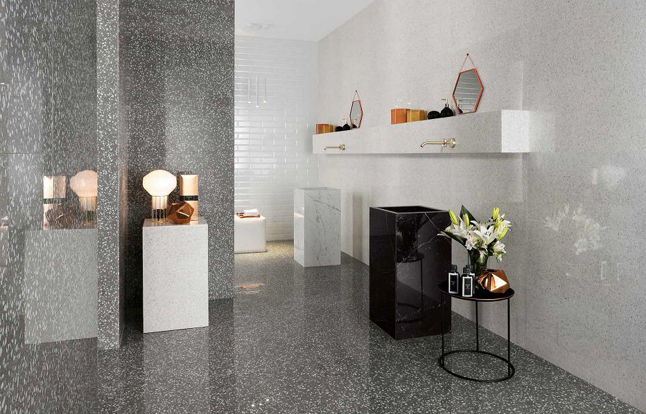 Marvel Gems Terrazzo White Polished Tile Amp Stone Gallery